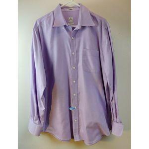 Peter Millar Nanoluxe Purple Button Down Cotton